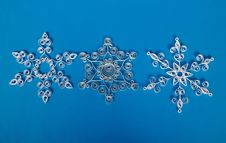 Free Three Paper Christmas Snowflakes, Self-made Stock Images - 35159194