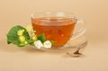 Free Cup Of Tea, Linden And Jasmine Flowers Royalty Free Stock Photo - 35162125