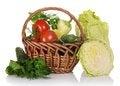 Free Basket Of Vegetables Stock Photo - 35162390
