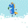Free Little Blue Horse Royalty Free Stock Image - 35167236