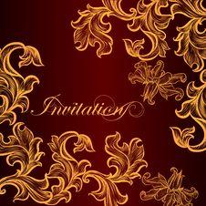 Free Vector Invitation Card For Design Stock Photo - 35160390