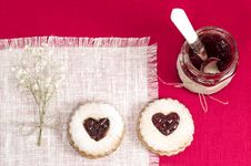 Free Homemade Cookies Valentine S Day Royalty Free Stock Images - 35161349
