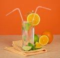 Free The Drink Glass With A Straw Stock Photos - 35174683