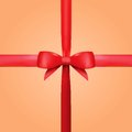 Free Vector Red Gift Ribbon With Bow Royalty Free Stock Photography - 35177637