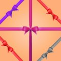 Free Vector Gift Ribbon With Bow Set Royalty Free Stock Photo - 35177755