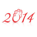 Free Vector Illustration For The 2014 New Year Royalty Free Stock Images - 35178809