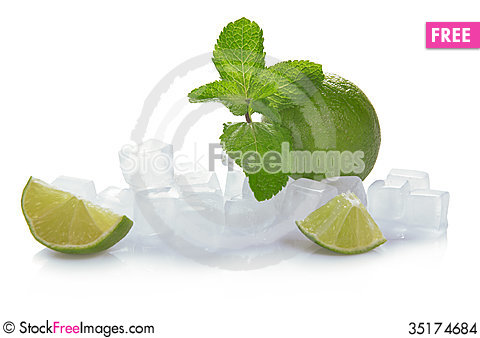 Free Ice, Lime And Mint Stock Images - 35174684