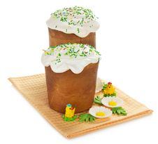 Free Easter Cake And Marzipan Decor Stock Photo - 35172150