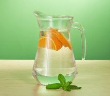 Free Cold Drink And Spearmint Stock Photography - 35172202