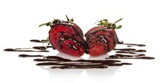 Free Fresh Fragrant Strawberry, Decorated With Royalty Free Stock Image - 35174716