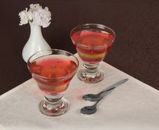 Free Two Glasses With The Jelly Royalty Free Stock Photos - 35174718