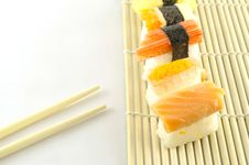 Free Fresh Sushi Traditional Japanese Food Stock Image - 35180141