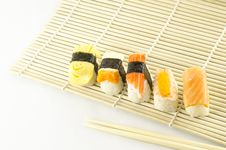 Free Fresh Sushi Traditional Japanese Food Royalty Free Stock Photography - 35180467