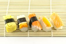 Free Fresh Sushi Traditional Japanese Food Stock Image - 35180641