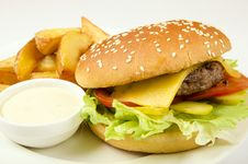 Free Hamburger Royalty Free Stock Image - 35180866