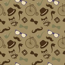 Free Hipster Retro Vintage Seamless Pattern Royalty Free Stock Photos - 35182178