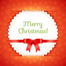 Free Merry Christmas Postcard. Vector Illustration. Stock Image - 35184761