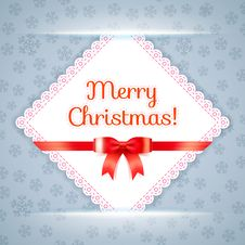Free Merry Christmas Postcard. Vector Illustration. Royalty Free Stock Photos - 35184838