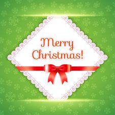 Free Merry Christmas Postcard. Vector Illustration. Royalty Free Stock Image - 35184916