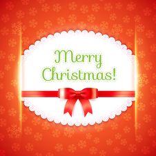 Free Merry Christmas Postcard. Vector Illustration. Royalty Free Stock Photo - 35185135