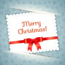 Free Merry Christmas Postcard. Vector Illustration. Royalty Free Stock Photography - 35185137