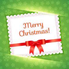 Free Merry Christmas Postcard. Vector Illustration. Stock Photo - 35185180