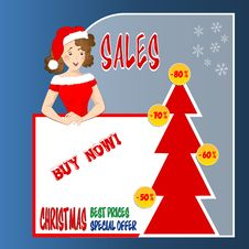 Christmas Sales Stock Photography