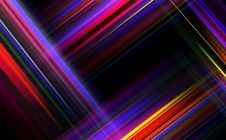 Striped Abstract Design On Dark Background. Royalty Free Stock Image