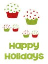 Free Happy Holiday Christmas Cupcakes Stock Photography - 35192222