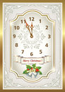 Free Christmas Card In The Form Of The Original Clock Royalty Free Stock Photo - 35196405