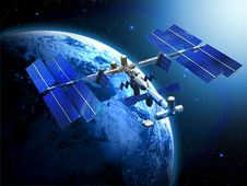 Free Satellite Space Station Royalty Free Stock Photography - 35192087