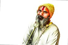 Free Indian Hermit Royalty Free Stock Photos - 35192128