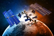 Free Satellite Space Station Stock Image - 35192181