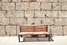 Free Red Bench Royalty Free Stock Image - 35192886