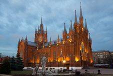 Russia. Catholic Cathedral In Moscow. Royalty Free Stock Photo
