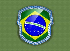 Free Flag Of Brazil Stock Photography - 35194752