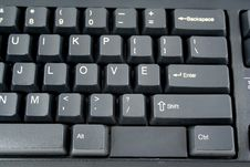Love On A Keyboard Stock Image