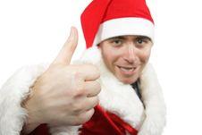 Free Santa Show Thumb Up Stock Image - 3520961