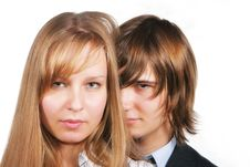 Free Young Couple Portrait Royalty Free Stock Images - 3521049