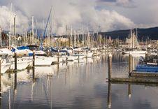 Yacht Slips Stock Photography
