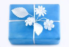 Free Lightblue Gift Box Stock Images - 3523034