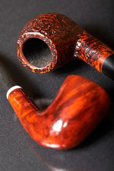Free Two Smoking Pipes Royalty Free Stock Photos - 3523218