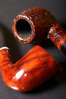 Free Two Smoking Pipes Stock Image - 3523281