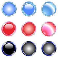 Free 9 Shiny Web Buttons Stock Photos - 3523613