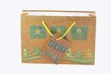 Free Christmas Gift Bag. Stock Photos - 3523913