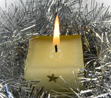 Free Yellow Candle Royalty Free Stock Photography - 3523967