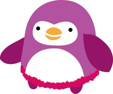 Free Fat Penguin Pink Stock Photography - 3524122