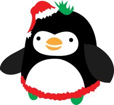 Free Fat Christmas Penguin Royalty Free Stock Photo - 3524125