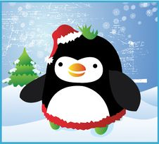 Free Fat Christmas Penguin Stock Image - 3524281