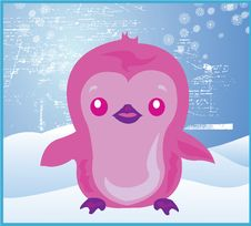 Free Christmas Penguin Snow Pink Stock Images - 3524344